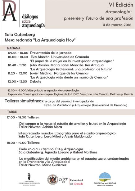Programa VI Diálogos sobre Arqueología en Parque de las Ciencias